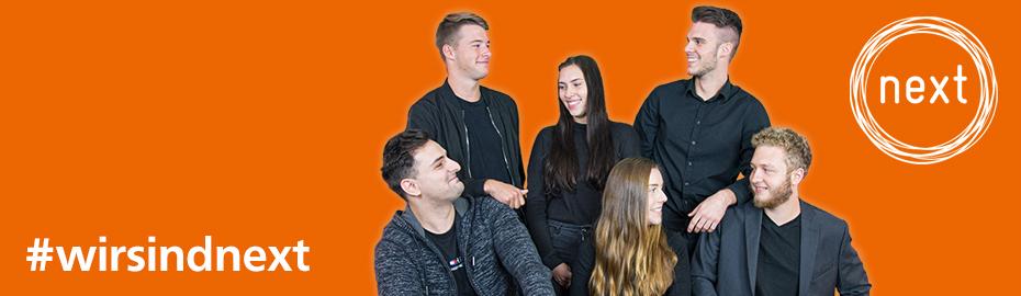 Ausbildungsjahrgang 2018: Jeannette Brenneisen, Hannah Staudenrauß, Steven Palmer, Filina Belfiore und Sabrina Rehm