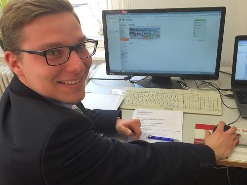 Matthias Wohlauf, Auszubildender 2. Lehrjahr