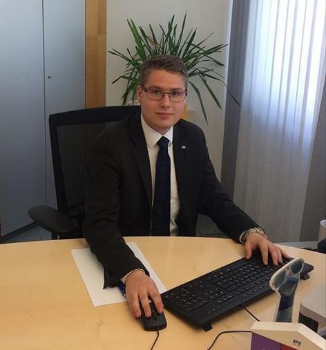 Jonathan Förster, Auszubildender 2. Lehrjahr