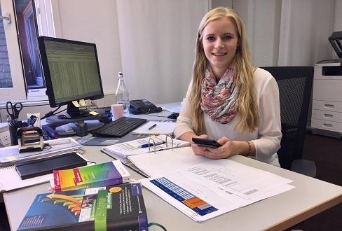 Katrin Schmid, Auszubildende 3. Lehrjahr