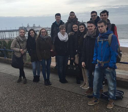 Eastbourne Pier - Alle Teilnehmer des Erasmus-Projekts - Constantin Vanotti Schule Überlingen